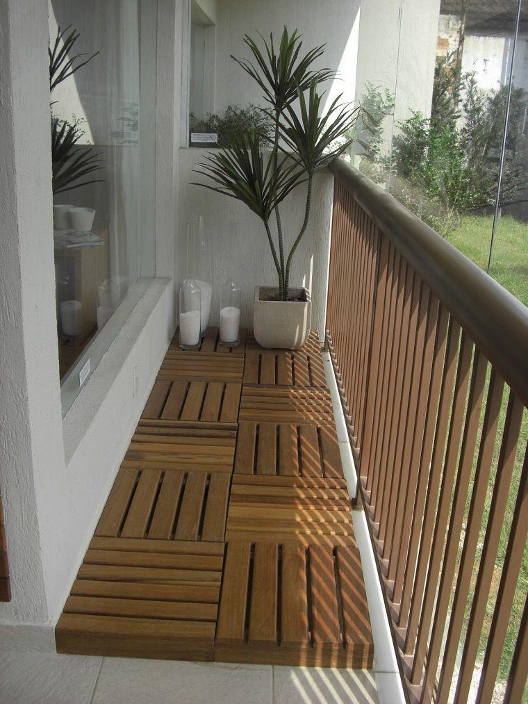 de terraza con baldosas de madera