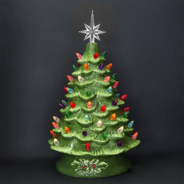 30 Most Beautiful Ceramic Christmas Trees Christmas Celebration All About Christmas Tabletop Christmas Tree Vintage Ceramic Christmas Tree Christmas Tree Decorations