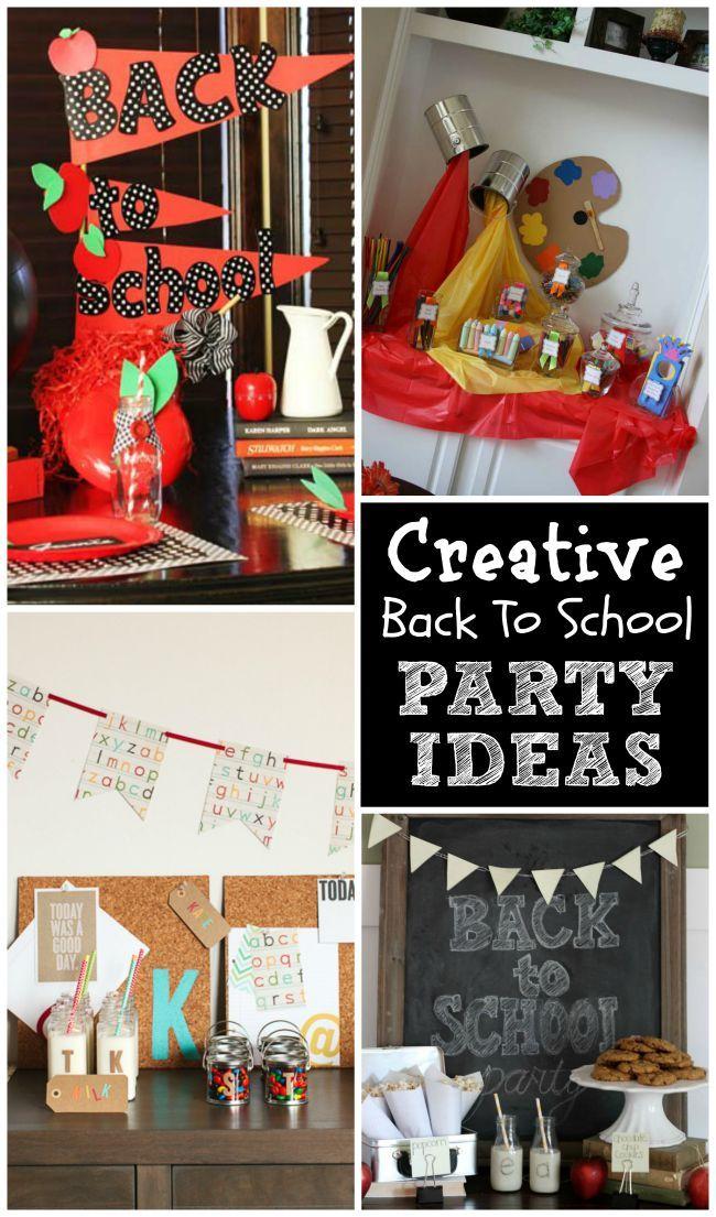Creative Back To School Parties School Parties School And Diy Party