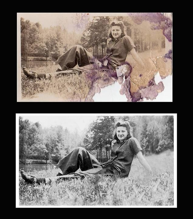 awesome examples of photo restoration by my dear aunt who is a Master Photographer