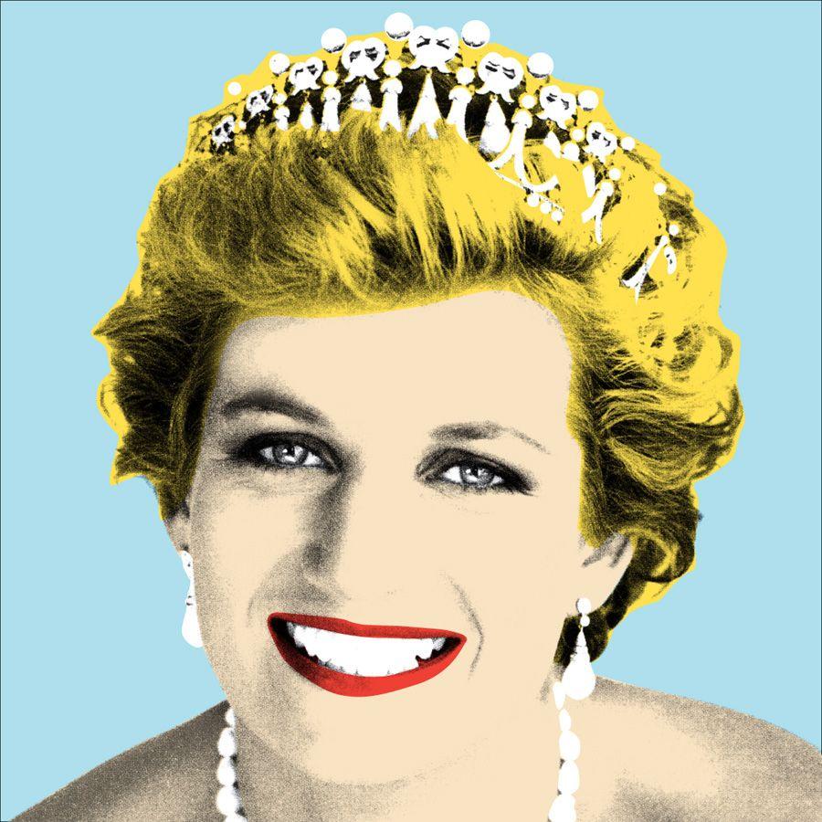 Princess Diana Andy Warhol Style Pop Art Posters Pop Art Princess Diana