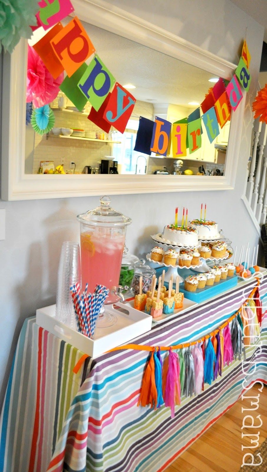 Simple Birthday Table Decoration At Home Ideas