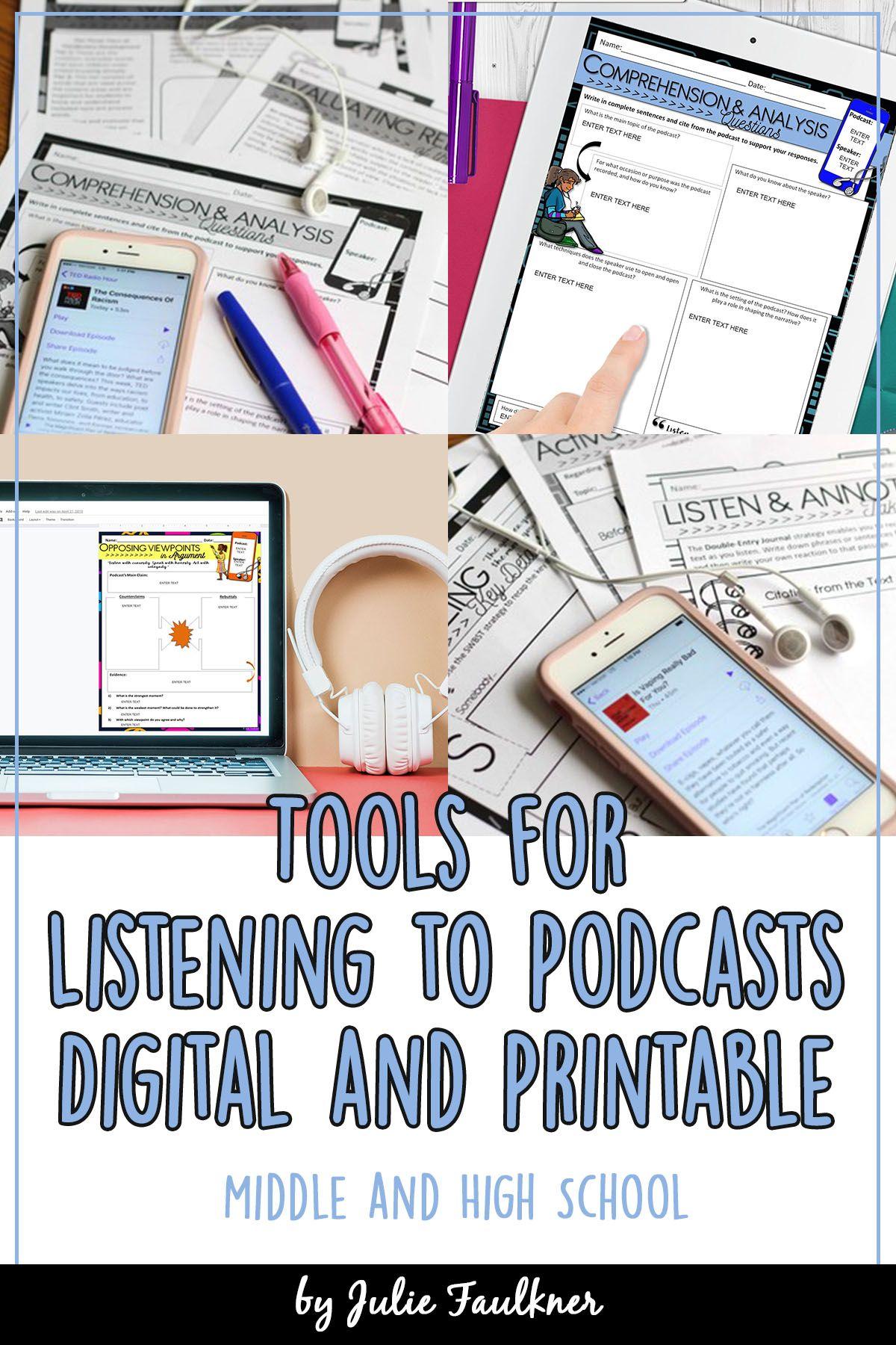 Podcast Worksheets Digital And Printable