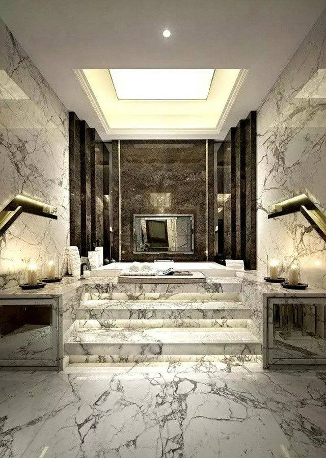 Marble Bathroom With Awesome Design Ideas Marbles and Interiors