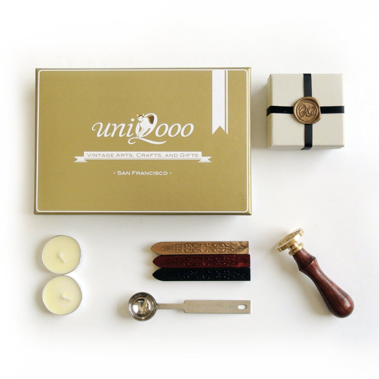 Amazon.com : UNIQOOO Re-created Hogwarts School Badge Vintage Wax Seal Stamp Set : Business Stamps : Office Products