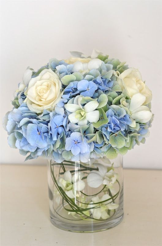 Blue And Green Hydrangea Centerpiece : Wedding flowers claudia s pale blue green ivory