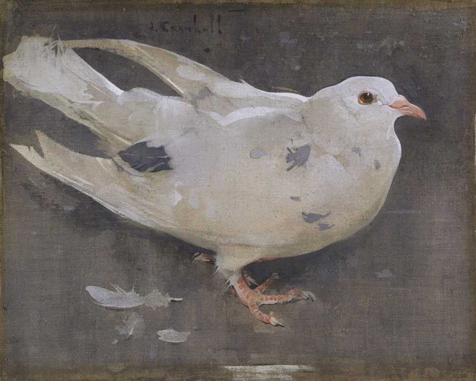 Joseph Crawhall Used Two Whites To Paint His Subject A