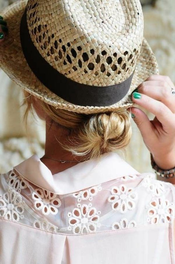 Le plus beau chapeau de paille en 60 photos! Chapeau de