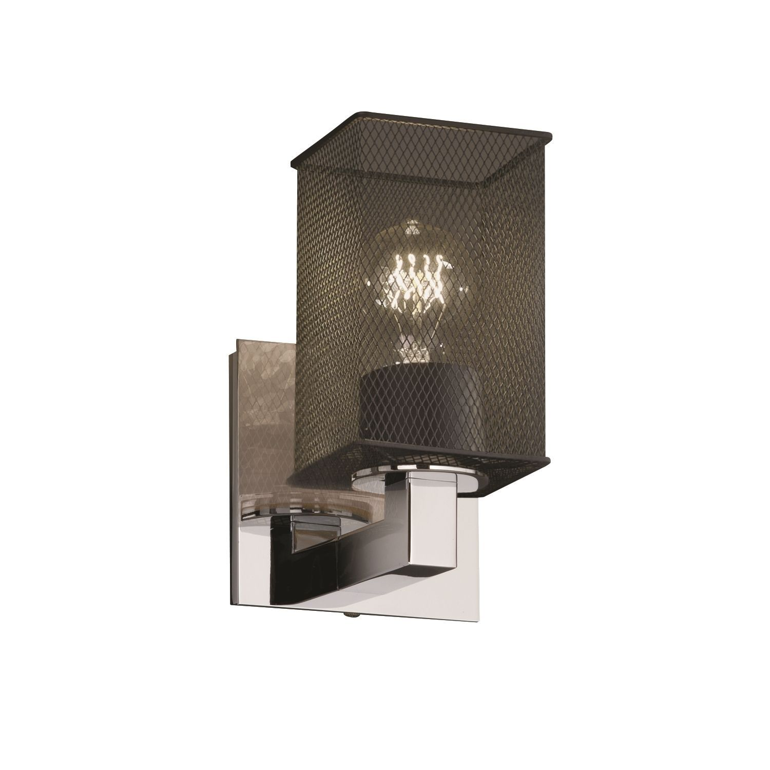 Justice Design Group Modular 1-light Wall Sconce, Polished Chrome ...