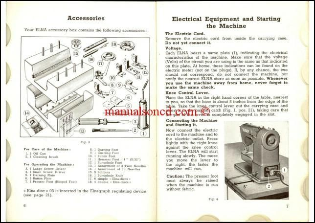 Elna Supermatic 2 Sewing Machine Instruction Manual 34 pages of - instruction manual