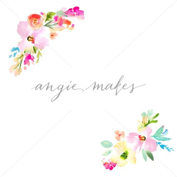Watercolor Floral Frame - Angie Makes Stock Shop