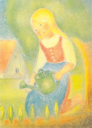 A Gardening Verse Afbeeldingen Kinderkunst Illustratie