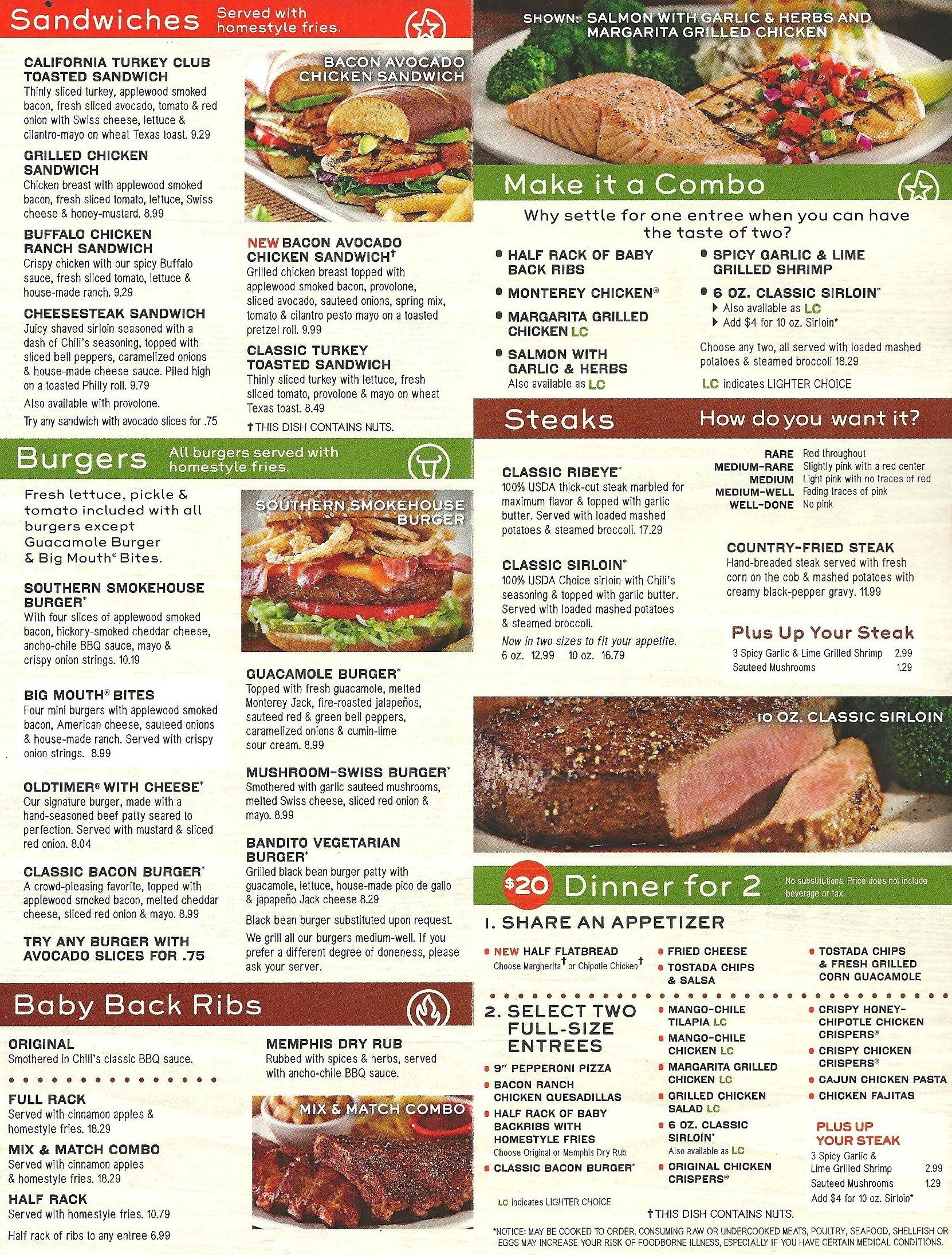 image about Chilis Menu Printable identified as Chilis Menu Image Style and design Enthusiasm Chilis menu