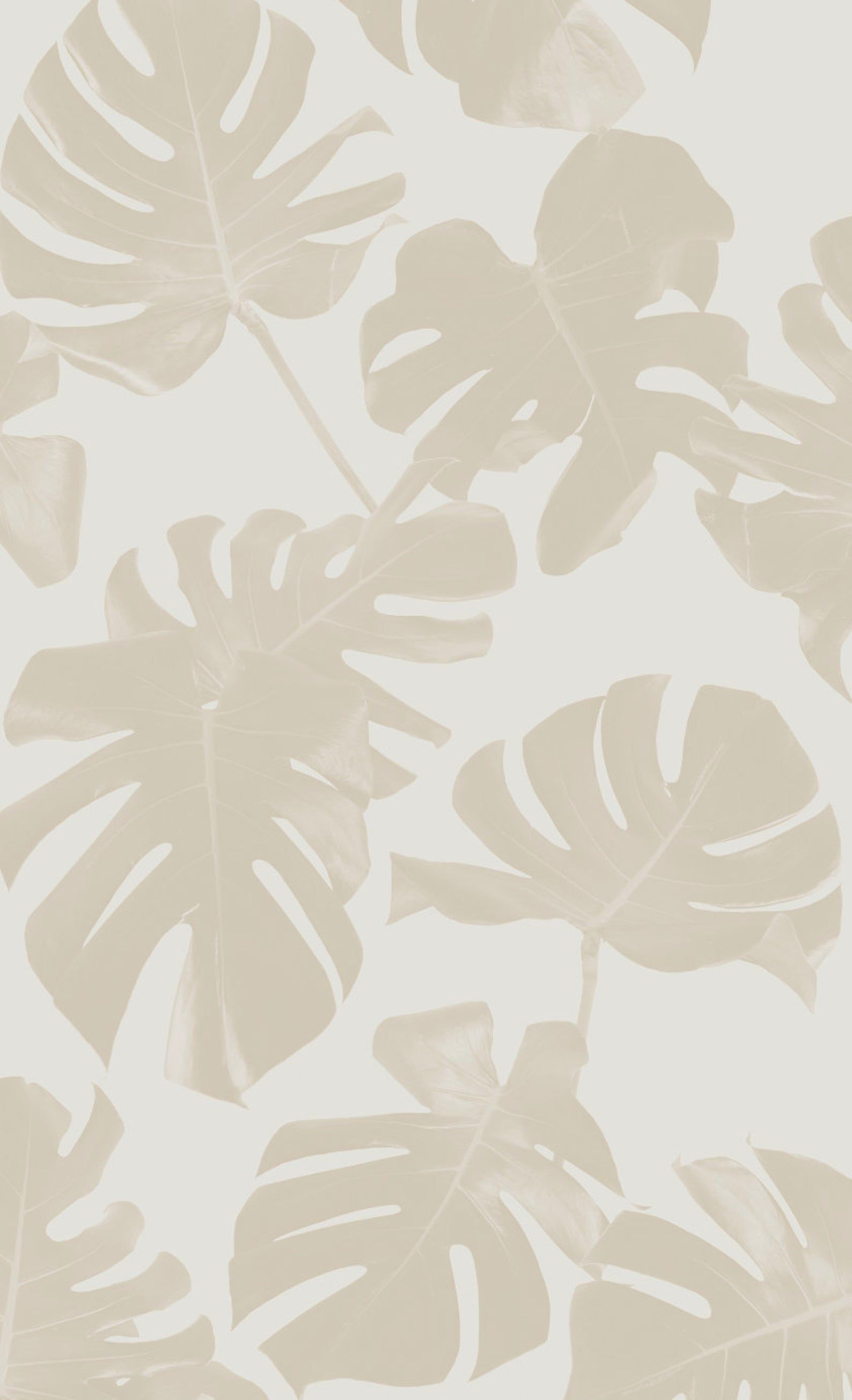 Basic Monstera Leaf REMOVABLE Fabric Wallpaper - Peel & Stick!