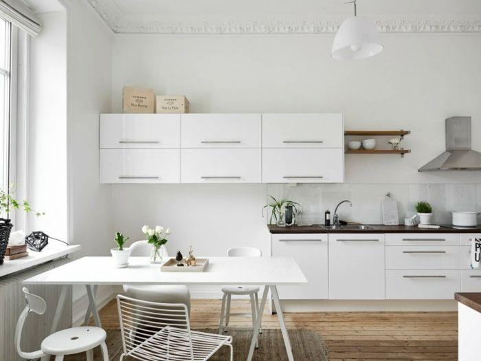 Skandinavische Einrichtung skandinavische küche ideen gestaltung weiß küche