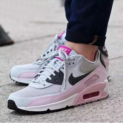 best service d7cdf 8e8a3 NIKE AIR MAX 90 ESSENTIAL PURE PLATINUM PINK GREY 616730 112   ♡ Shoes ♡    Cheap nike air max, Nike air, Nike air max