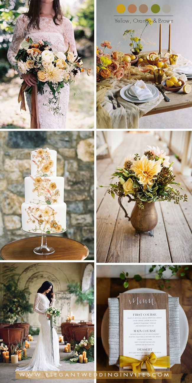 Trendy Wedding Color Ideas For Fall Winter Mustard Yellow