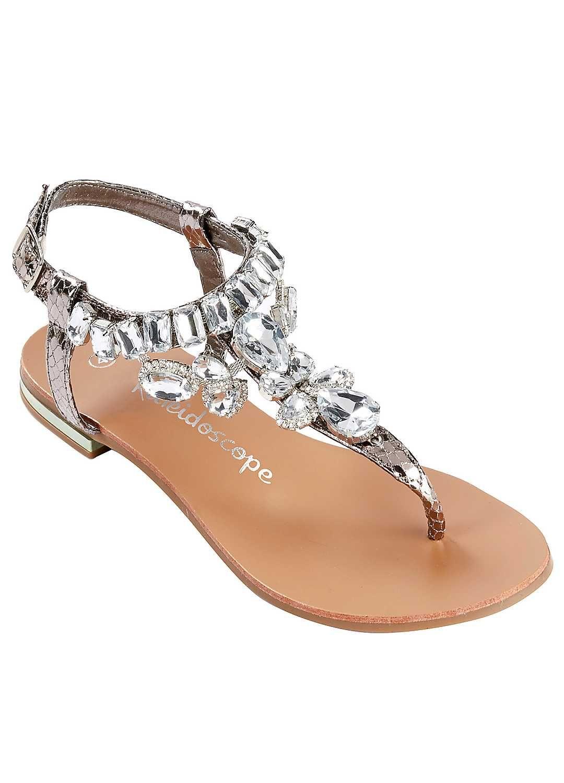 351da6392 Jewelled Snake Effect Sandals
