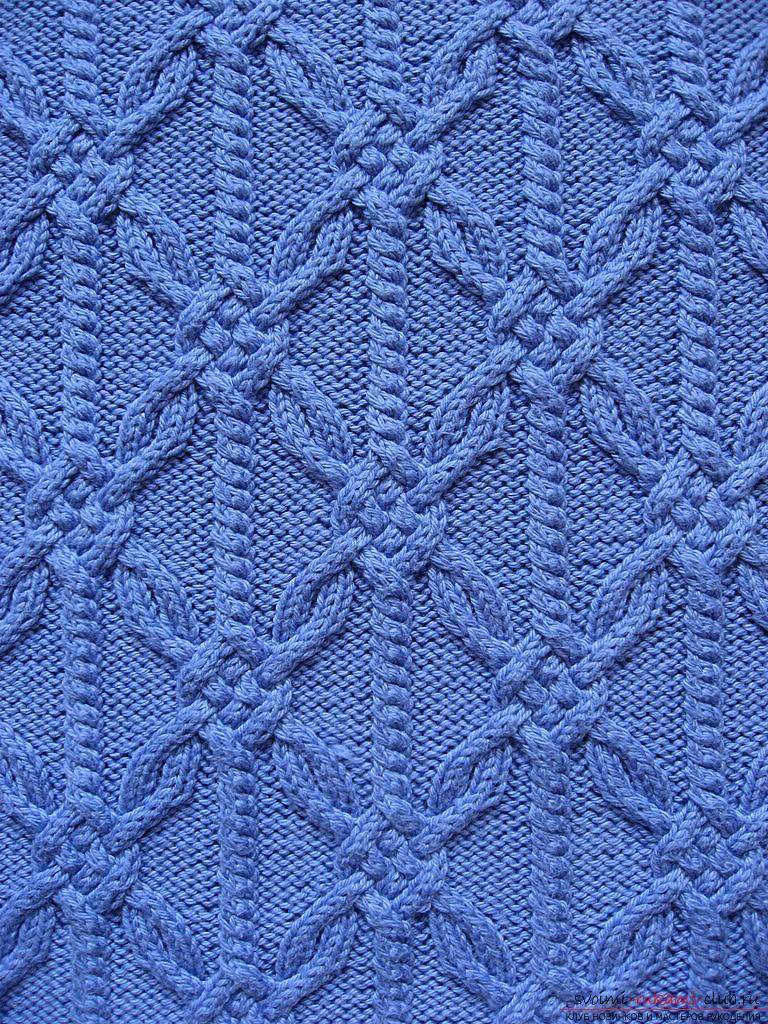 Схемы вязания спицами разнообразных узоров из кос ...