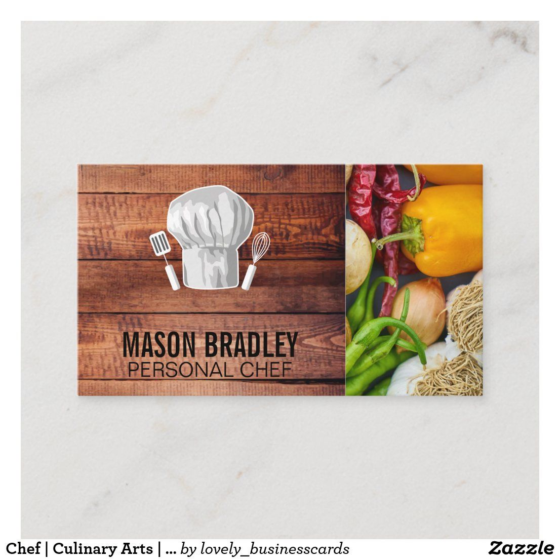Chef Culinary Arts Produce Vegetables Business Card Zazzle Com Culinary Arts Colorful Business Card Culinary