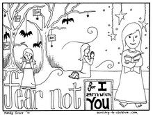 Fear Not For I Am With You Coloring Page Use This Our Lesson In Cubbies Each Year At The End Of October Rather Than Ignore Or Avoid Halloween
