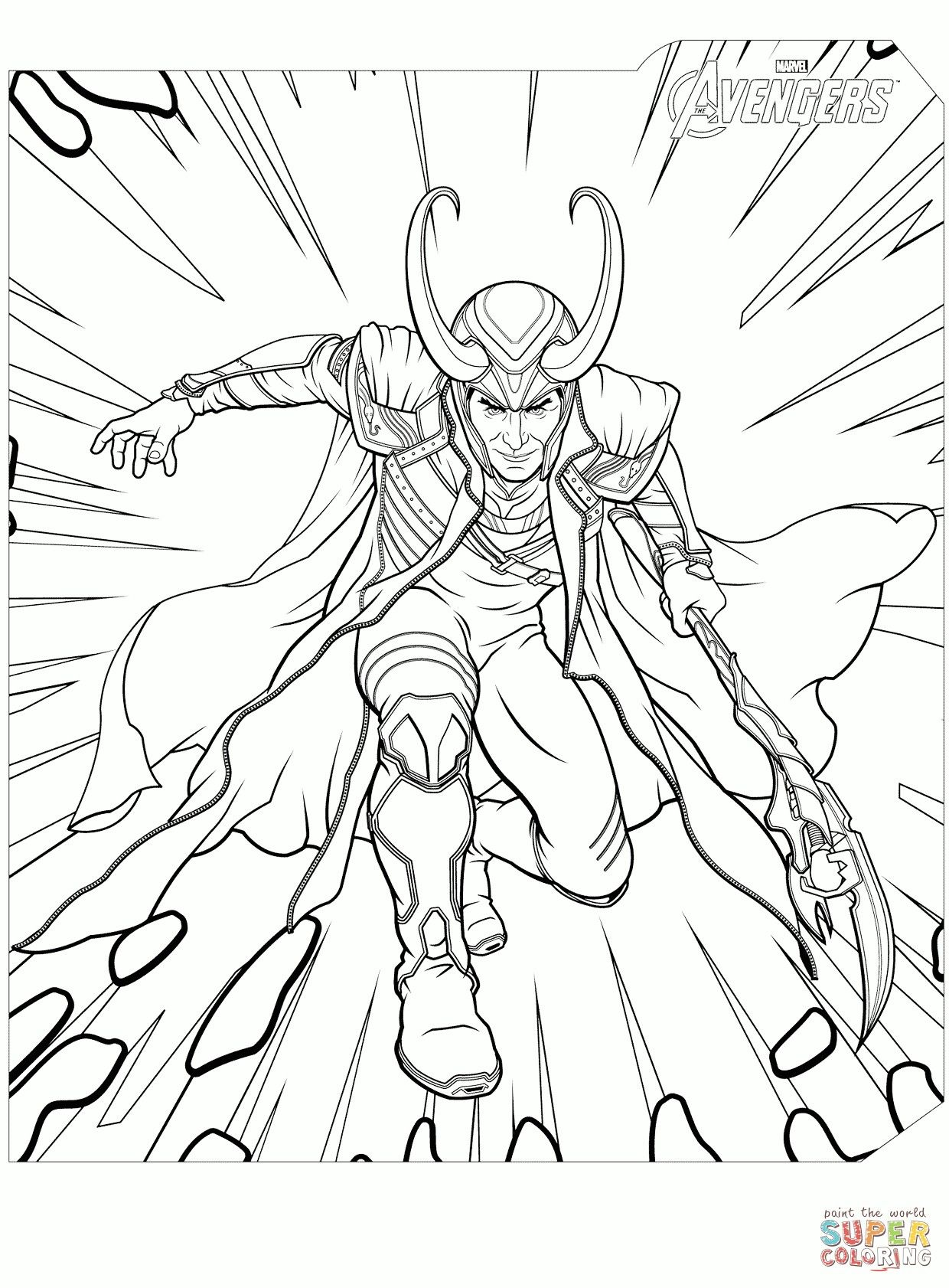 Loki coloring page loki coloring page avengers