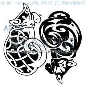 Celtic Cat Tattoo - Bing Obrazy