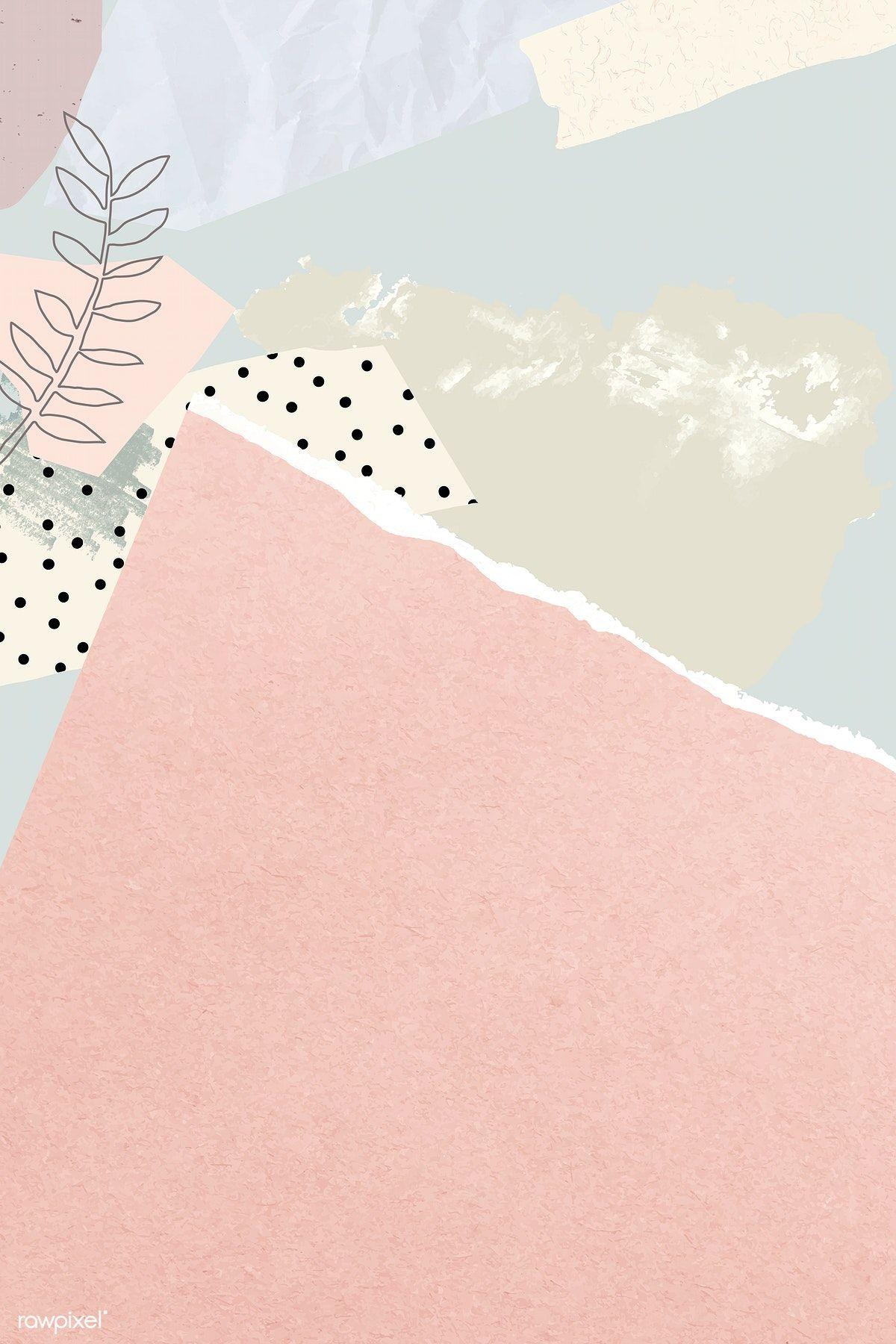 Download Premium Vector Of Blank Pink Ripped Notepaper Vector 1208210 Iphone Background Wallpaper Pastel Background Instagram Wallpaper