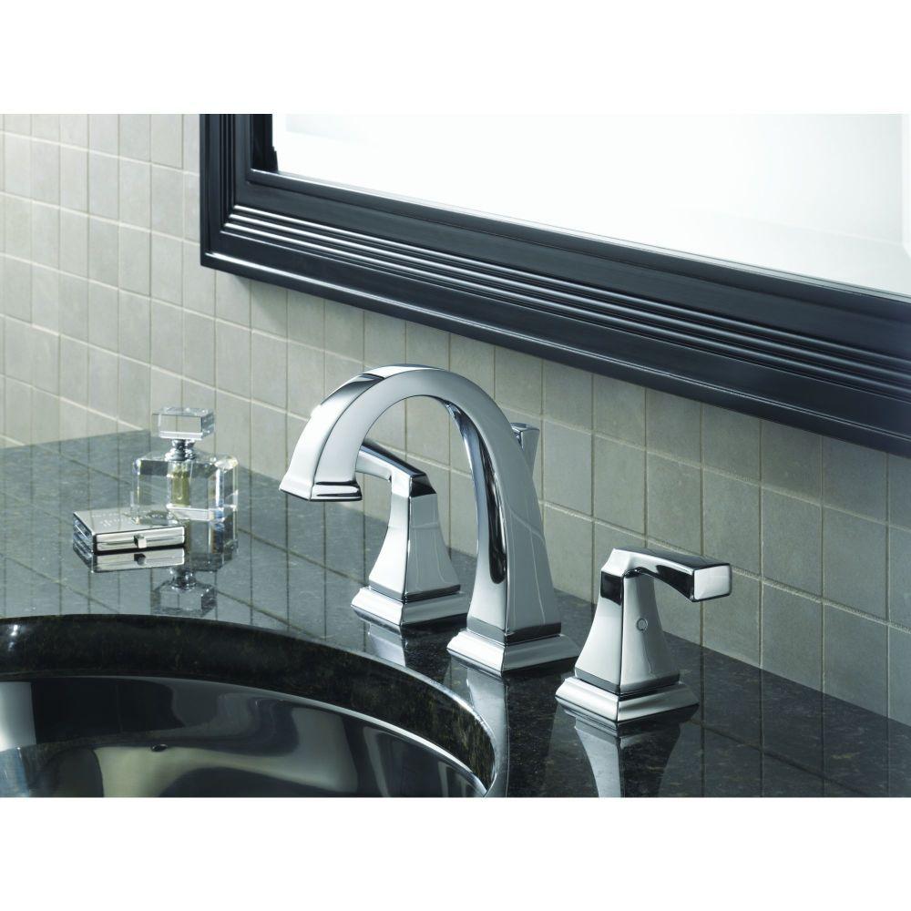 Delta Faucet LFCZ Dryden Two Handle Widespread Bathroom - Champagne bronze bathroom faucet for bathroom decor ideas