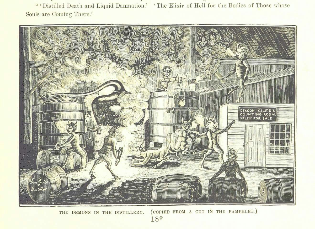 The truth about how whisky used to be made! (1883), courtesy The British Library.