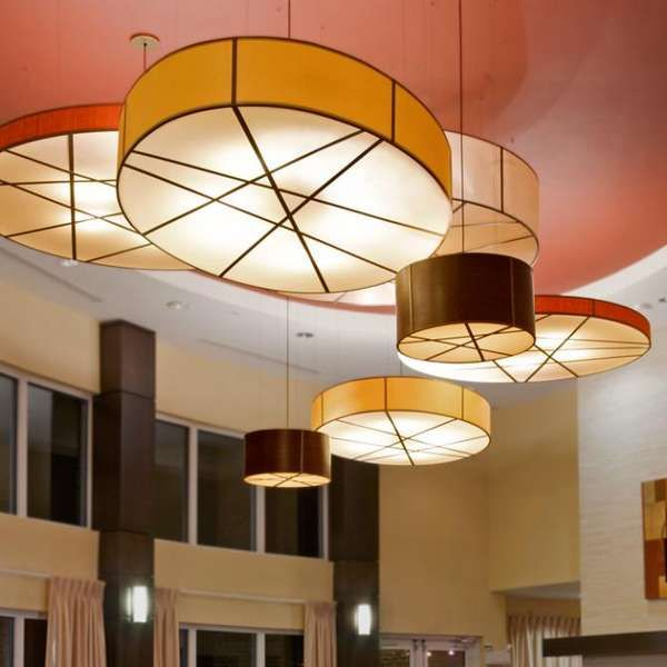 Tambourine textile lamps drum shade pendant lighting and lights tambourine textile lamps the drum shade pendant light by fire farm lighting is expressive and aloadofball Images
