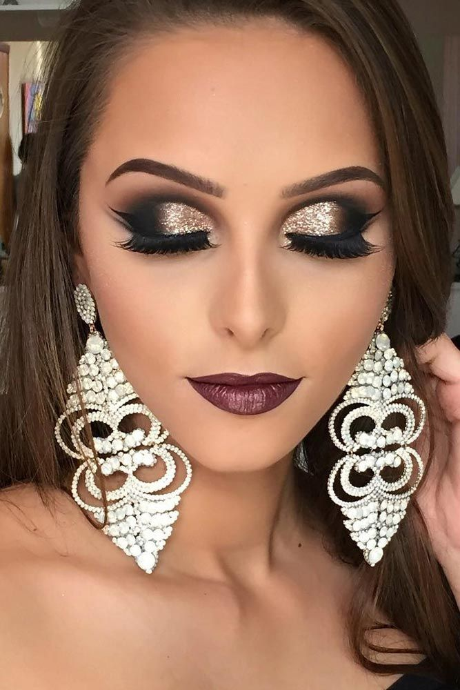 57 Wonderful Prom Makeup Ideas Number 16 Is Absolutely Stunning Wedding Makeup Tutorial Black Dress Makeup Prom Makeup