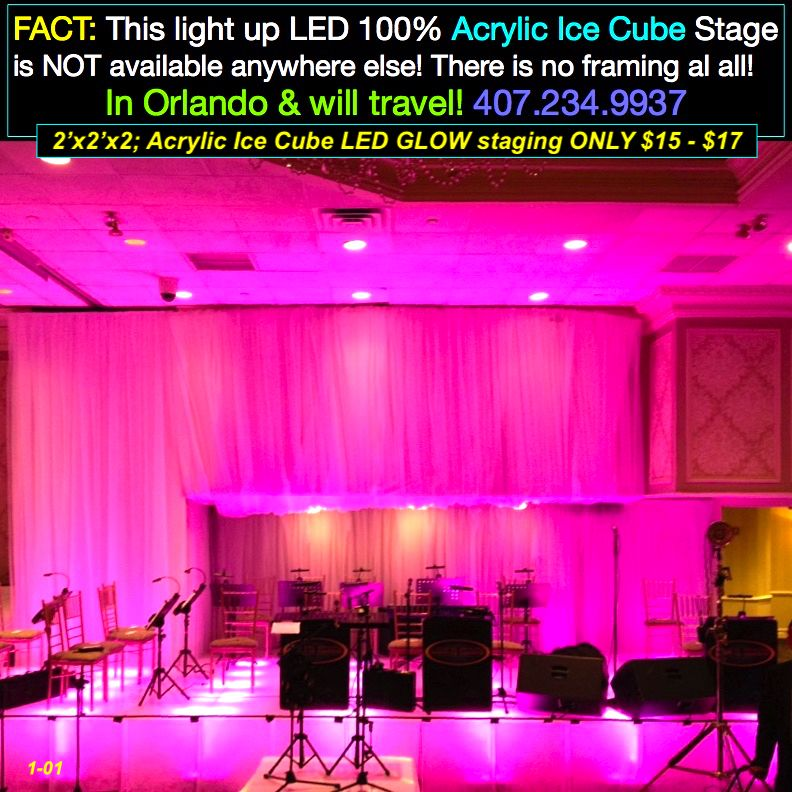 Acrylic Ice Led Lighted Stages