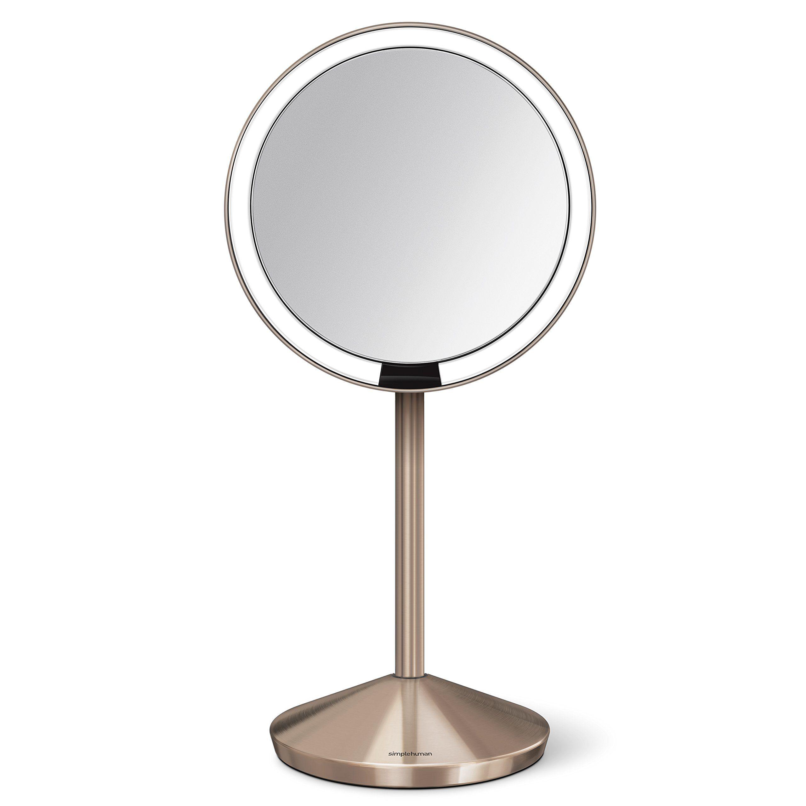 Simplehuman 5 Inch Sensor Mirror Lighted Makeup Mirror 10x