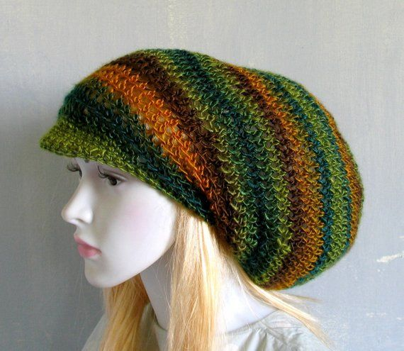 4c40bb6a22f69 4 COLORS Dreadlock Tam Hat Large Beanie Oversized Beanie Slouchy Dreadlocks  hat for Men Women Knit