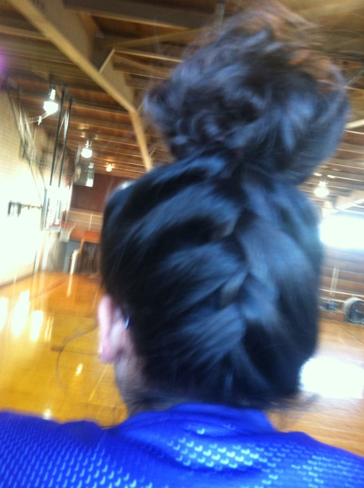 Easy cool hairstyle for basketball game in kinda of sport ...
