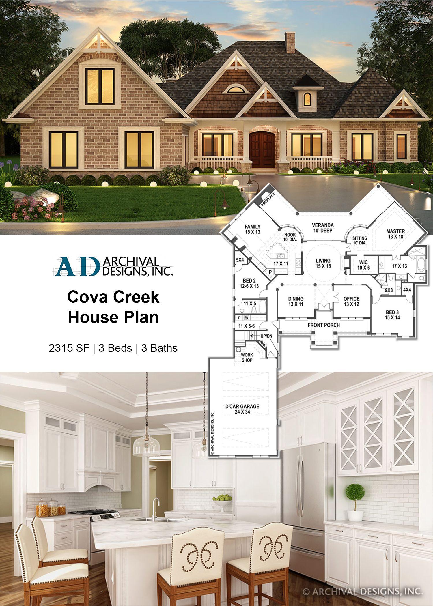 Cova Creek House Plan Ranch House Designs Craftsman House Plans House Plans