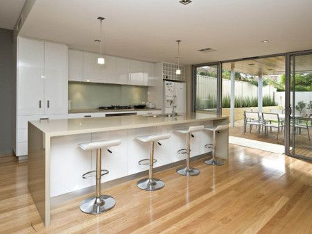 Floorboards Modern Galley Kitchen Design Kitchen Kitchen