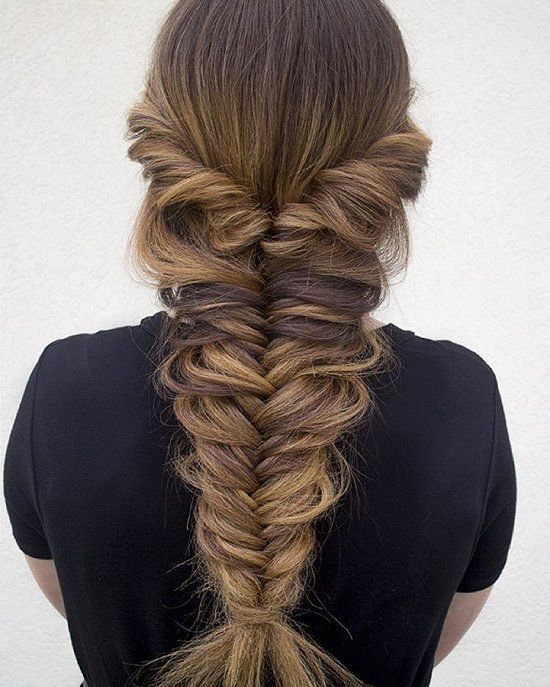 Fishtail Braid Thick Messy Fishtail Braid Pictures Photos And Images For Facebook Hair Styles Long Hair Styles Fishtail Hairstyles