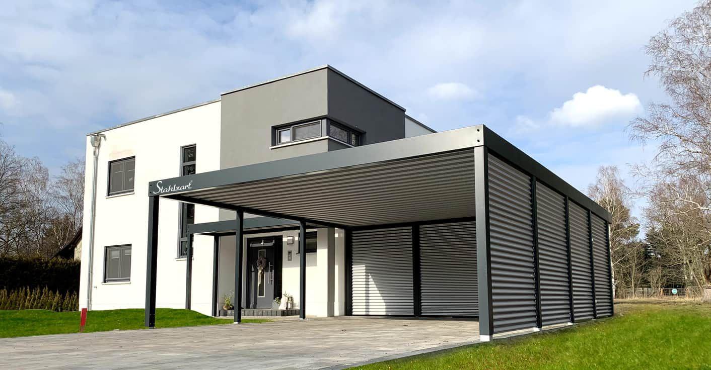 Carport Modern Prag Haus Anbau Flachdach Design Stahlzart Carport Modern Carport Haus