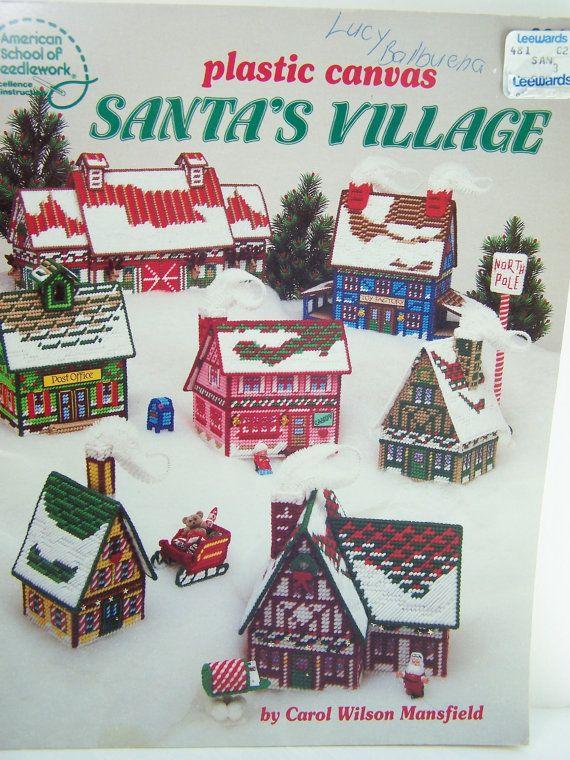 Plastic Canvas Pattern Book Santa's Village Christmas Buildings In Adorable Plastic Canvas Pattern Books