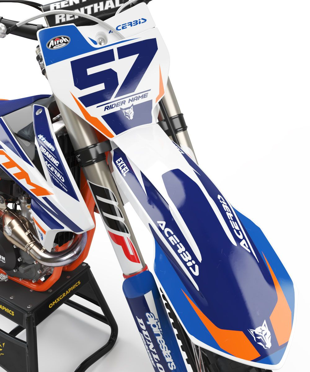 Ktm Mx Graphics Kit Dazzle Blue 1 Ktm Ktm Motocross Motocross
