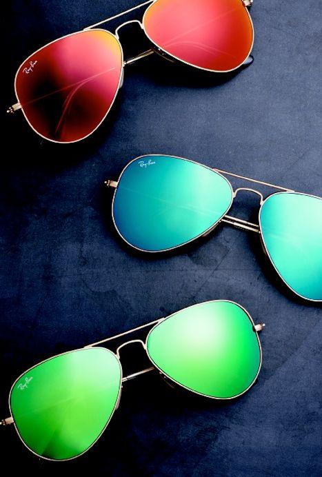 lunette de soleil ray ban aviator effet miroir