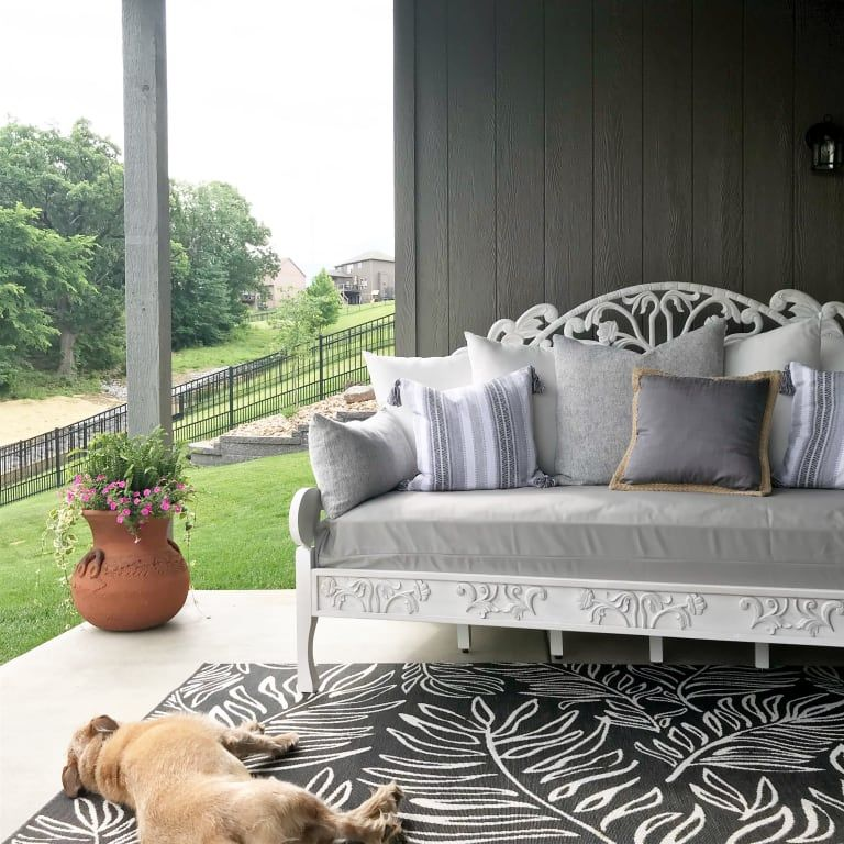 Whitewash Carved Zarah Daybed | Outdoor living room ... on Living Spaces Outdoor Daybed id=11312