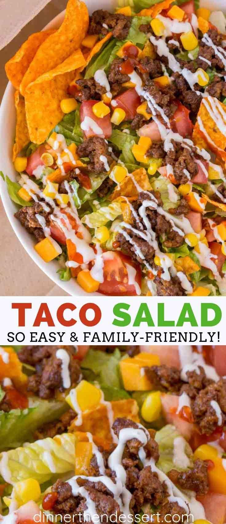 Easy Taco Salad - Dinner, then Dessert