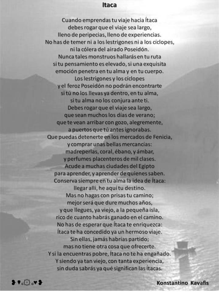 Itaca -Konstantino Kavafis- ❥♥๑۞๑♥❥   Poesie   Pinterest