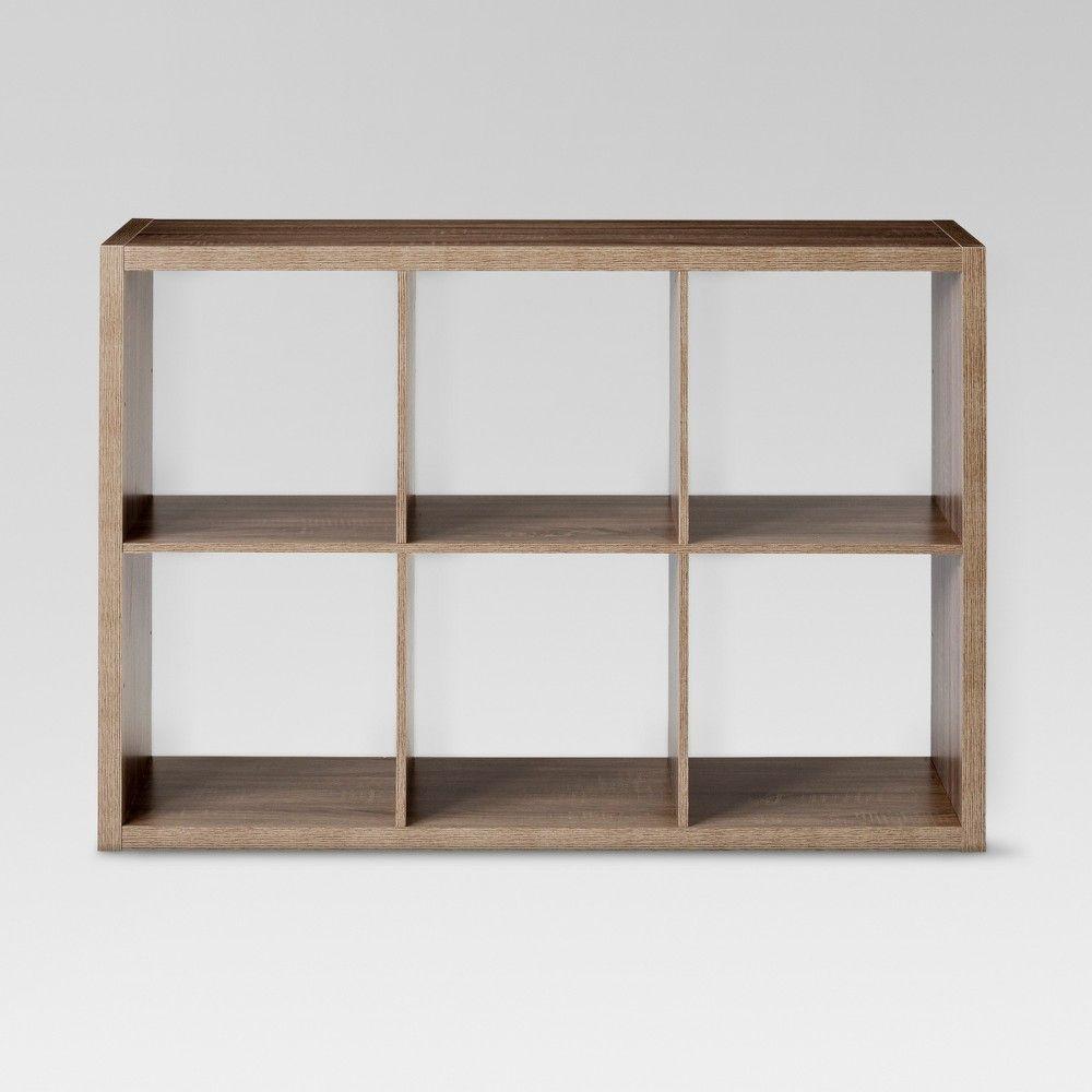 6 Cube Organizer Shelf Espresso 13 Threshold Cube Organizer