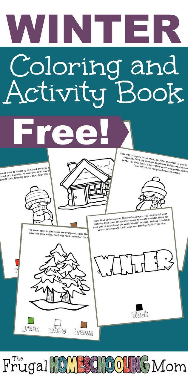 FREE Winter Coloring and Activity Book | Activities, Learning and ...