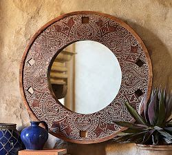 Adorable pottery barn circle mirror