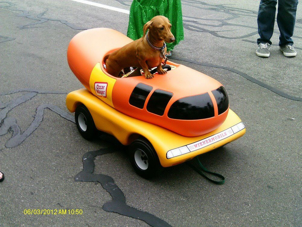 Space Age Orange And Viewliner Ltd furthermore The Weiner Wagon Late Entry For Another Wordless Wednesday also What Is It 33 The Answer furthermore Childhood Sandlot also Novelty Hot Dog Cookers And Barbeque. on oscar meyer weenie